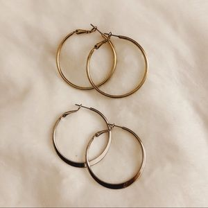 Silver Hoop Earring Bundle